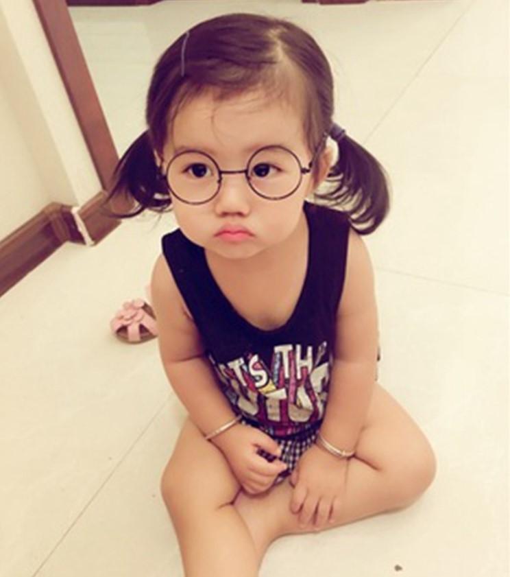 de2db0e4bf858 Fashion retro children s glasses frame tide boys and girls kids cute big ...