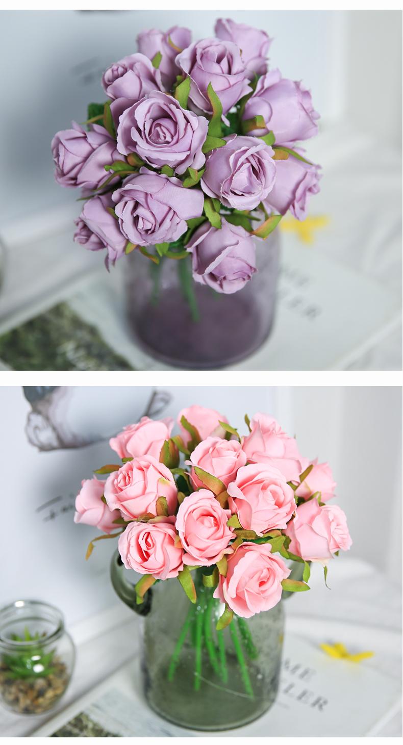 【免運特惠-可開發票】仿真樹-假花玫瑰花絹花仿真花客廳室內餐桌花瓶裝飾干花花 【KK創意館】