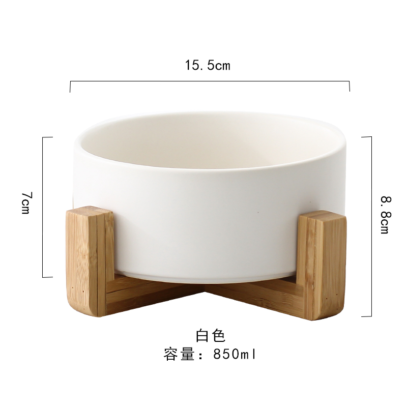 White Bamboo And Wood Fruit Salad Bowl