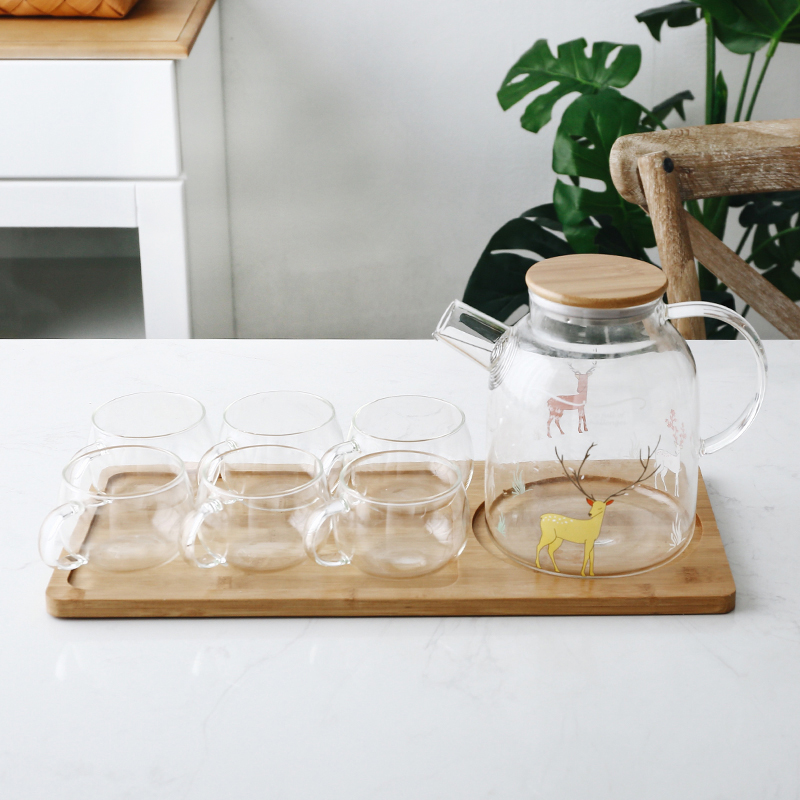 Forest Fawn (Large Kettle) + 6 cups + tray