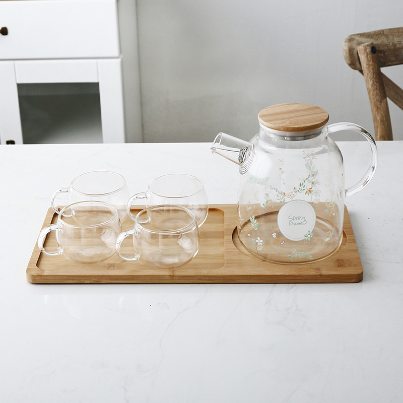 Spring Forest (Large Kettle) + 4 cups + tray