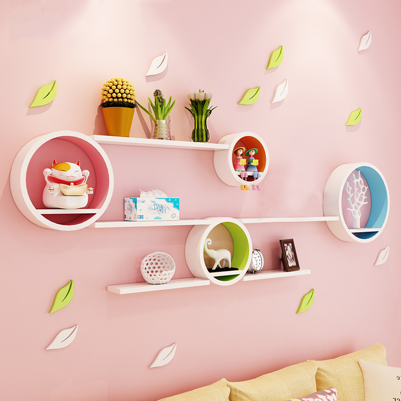 Wall shelf wall creative wall partition living room TV background ...