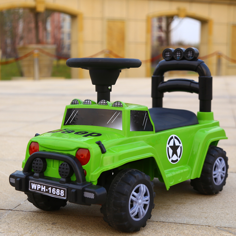 Simple Thick Plate Green Jeep + Gift Bag