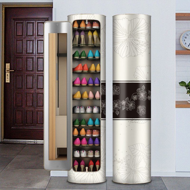 Creative 360 degree swivel shoe cabinet home modern Chinese living room locker round foyer cabinet multi-functional ZG853.