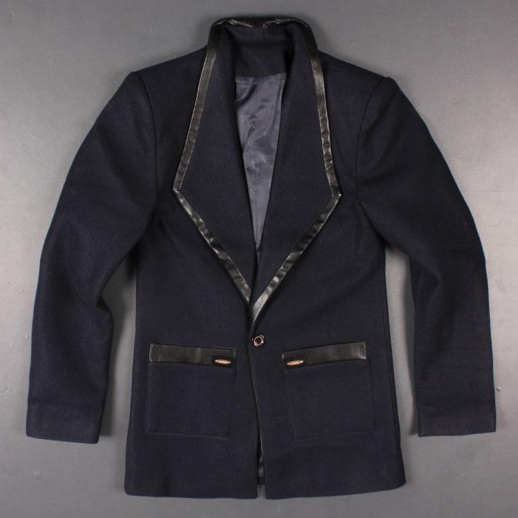 捡 giá rẻ thanh trên cơ thể đẹp trai kinh doanh bình thường thời trang nam mùa thu và mùa đông len len áo khoác mỏng áo khoác