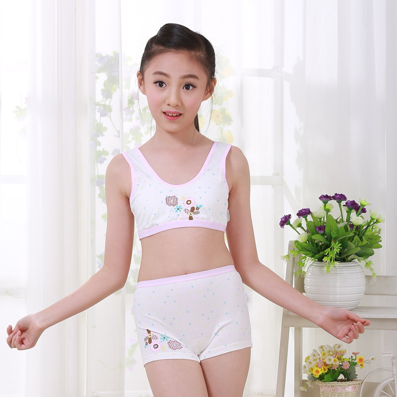 5d5aa4681ea5f Girls development period bra set 9-12 years old children underwear vest  student girl big