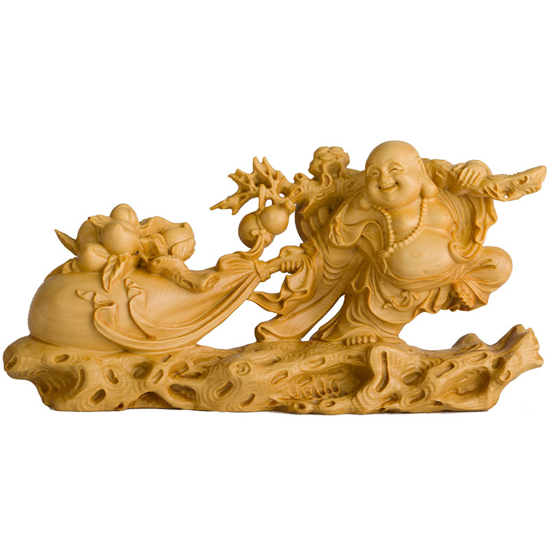 Usd small leaf boxwood carving chinese home