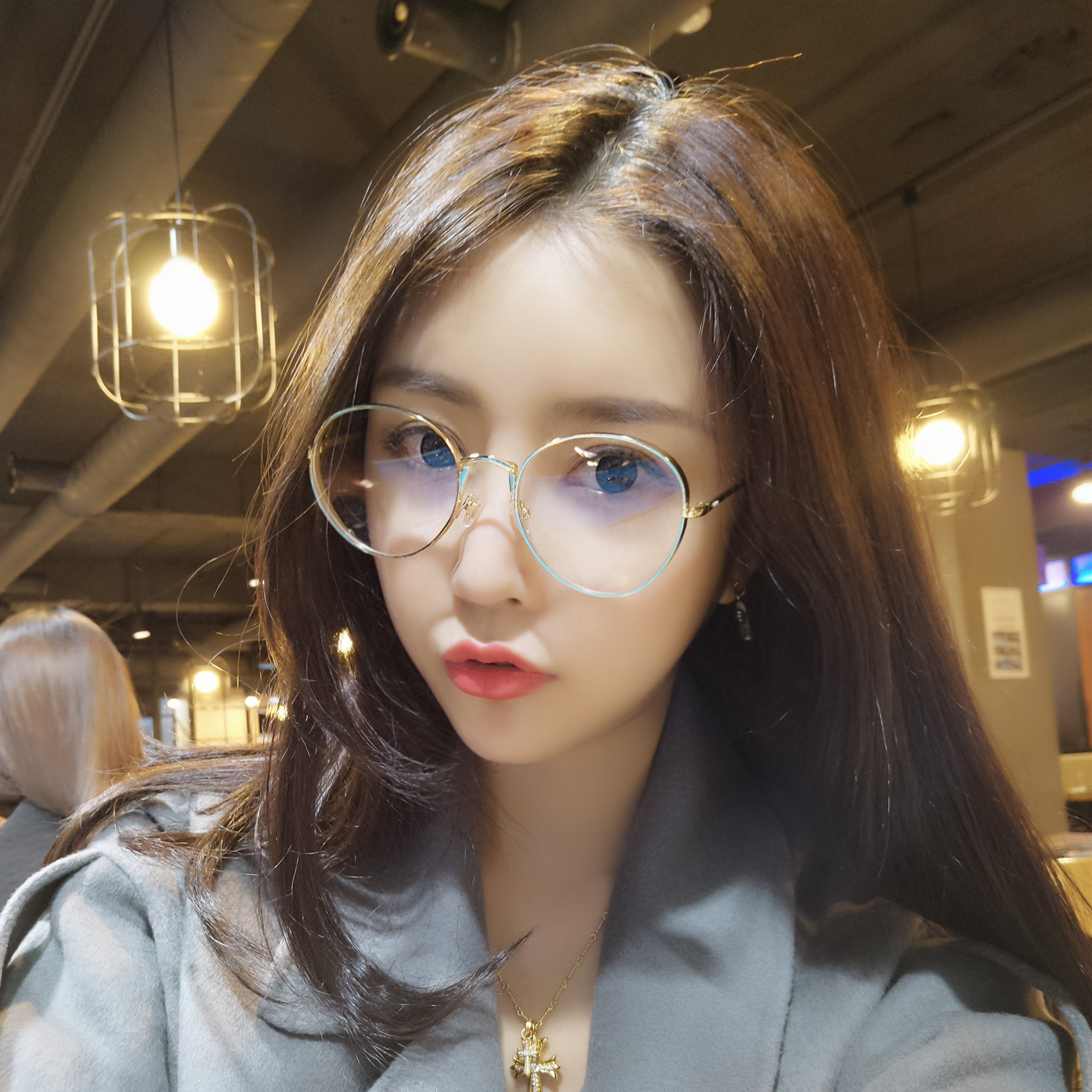 30dca8b006 Net red retro glasses frame female Korean version of the tide art big box  personality simple