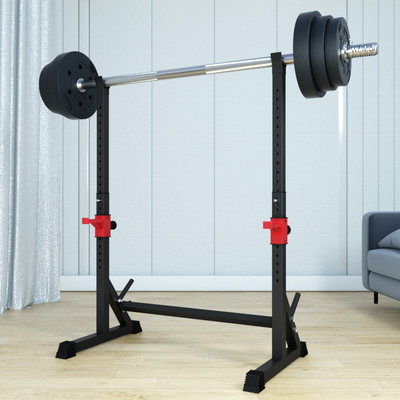 Deep squat home simple splitter deep squatting scalp fitness barbell set barbell holder weight bed professional equipment