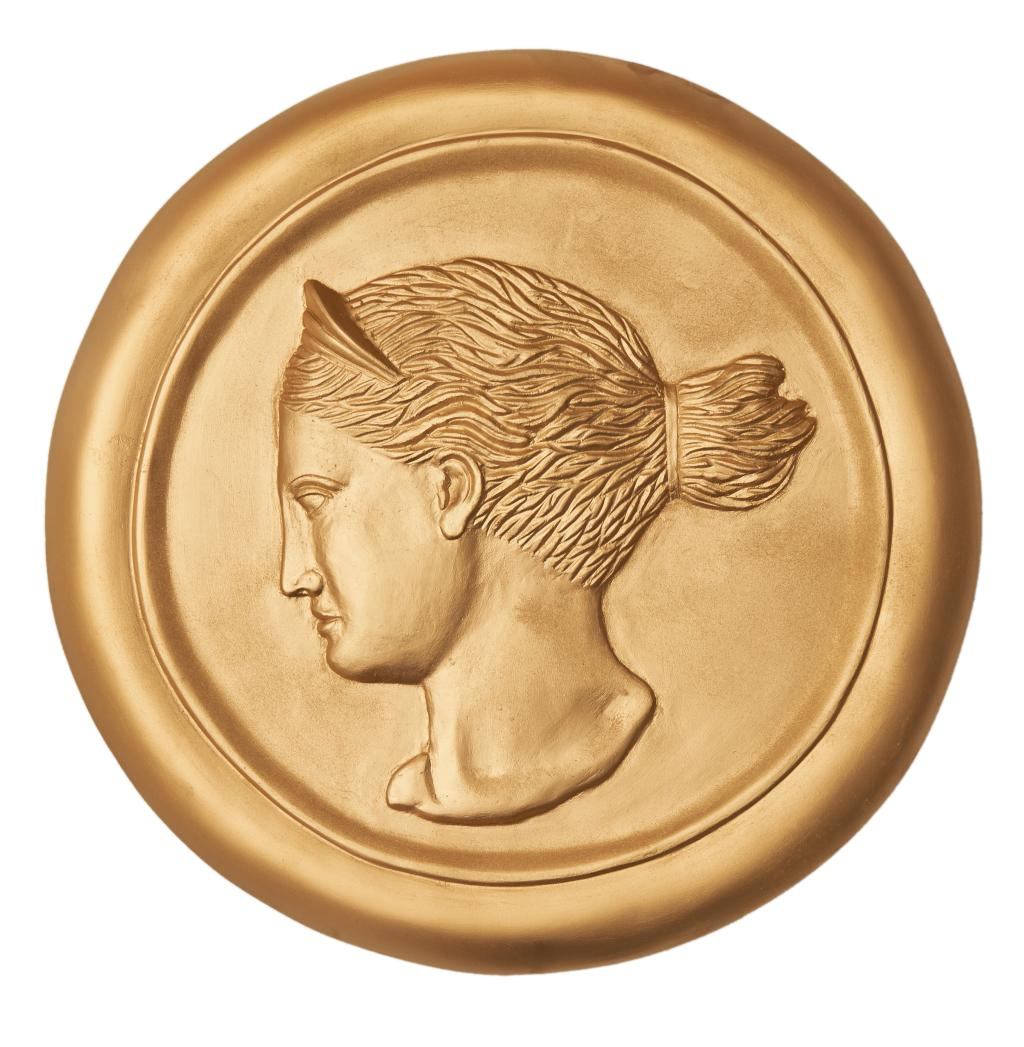 USD 180.00] Sophia Greek goddess disc embossed Wall Decoration Wall ...