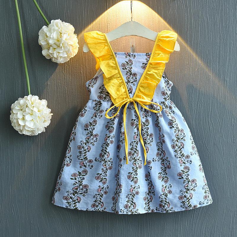 3儿童装女童夏装公主裙子2019小女孩时尚5甜美宝宝吊带连衣裙7岁4