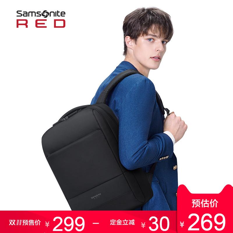 18年双11预售 Samsonite 新秀丽 男式商务双肩电脑包 BU1 低于¥219包邮(需定金¥30)多色可选
