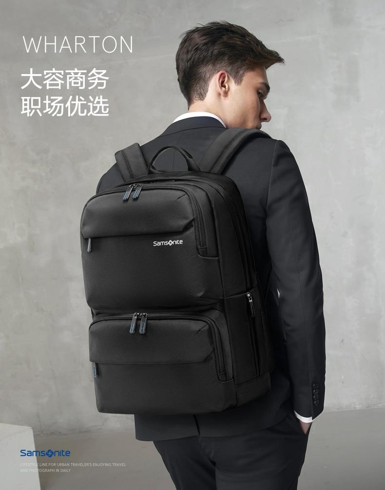 22点截止预售 Samsonite 新秀丽 男式大容量双肩背包 15寸 36B*012 ¥279包邮(需50元定金)