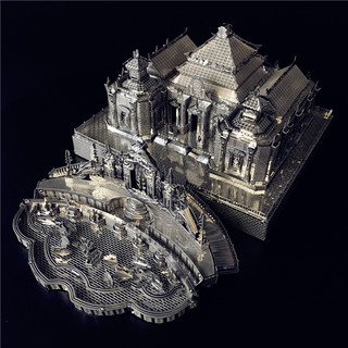 Metal Ocean Yuanmingyuan water law model Guochao Chinese style building 3D three-dimensional jigsaw puzzle metal