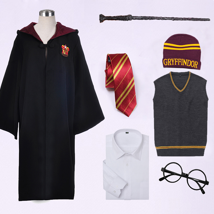 Harry Potter magic gown Gryffindor cloak COS clothing glasses magic ...