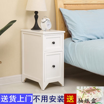 Simple slick storage cabinet 20-25cm solid wood small bedside table ultraline mini bedroom bedside cabinet small cabinet