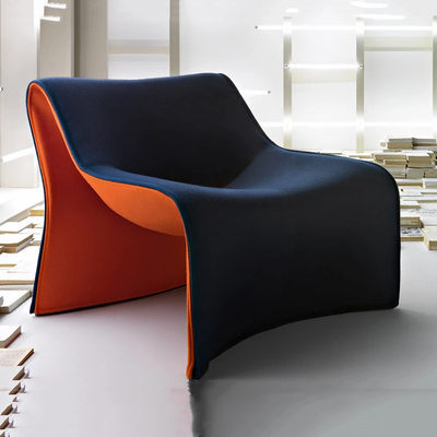 Designer FRP fashion furniture minimalist modern lazy sofa chair Nordic style M-shaped casual chair