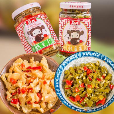 龙共萝卜干下饭菜瓶装酸豆角农家自制脆萝卜香辣咸菜开味小菜罐装