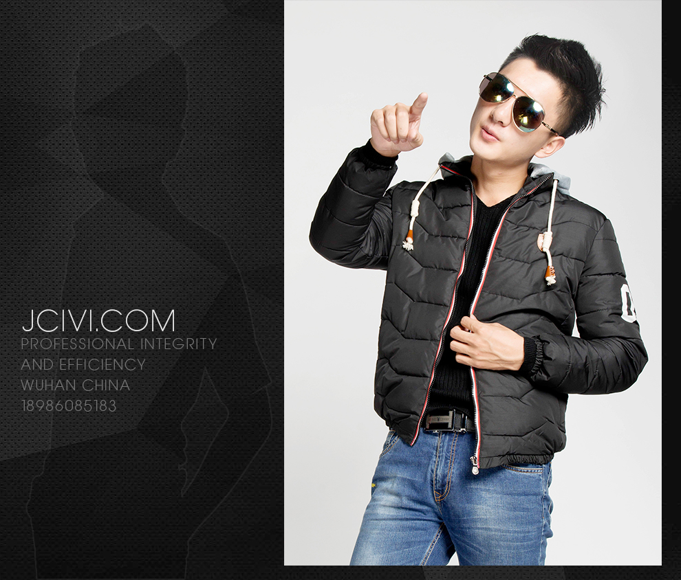 武汉商业摄影 服装摄影 淘宝摄影 羽绒服拍摄 秋冬男装拍摄