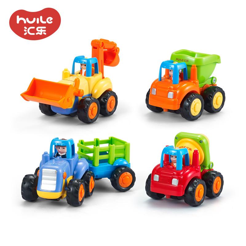 汇乐玩具326儿童惯性车工程车套装