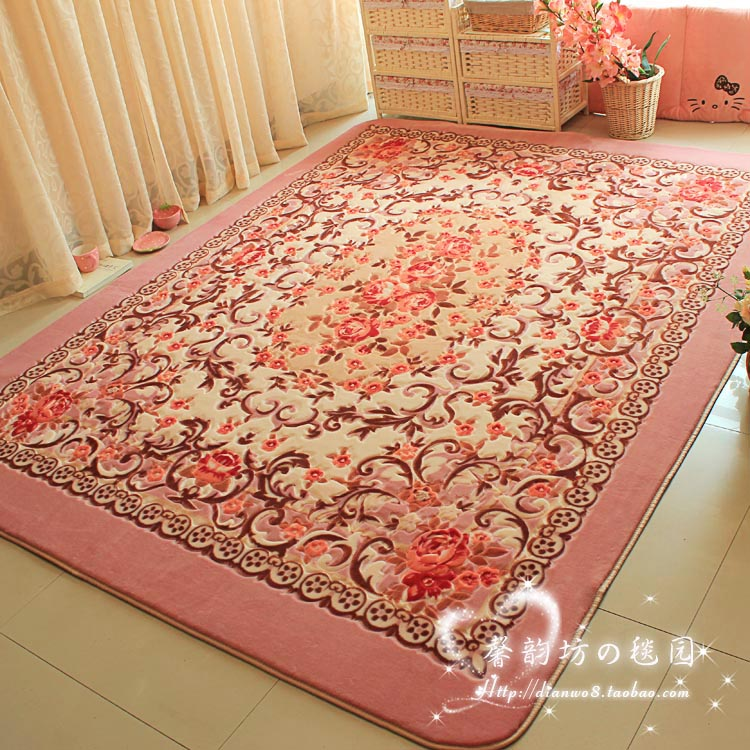 150x200cm big carpets for living room pink flower bedroom
