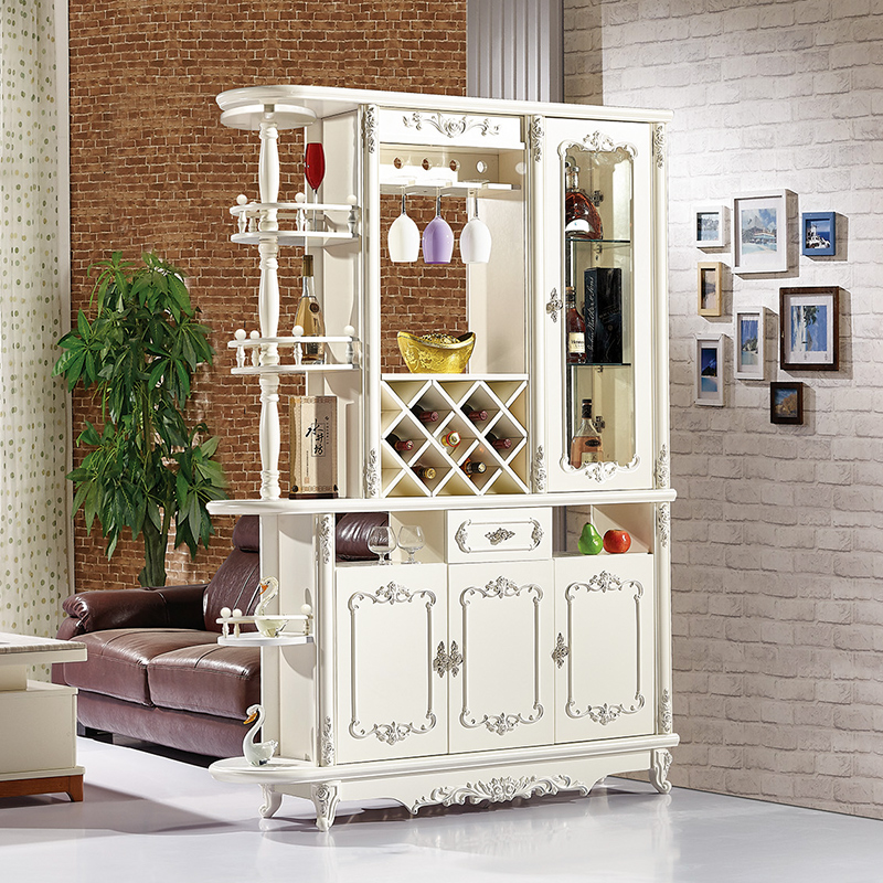 European Style Porch Cabinet Living Room Screen Partition Cabinet