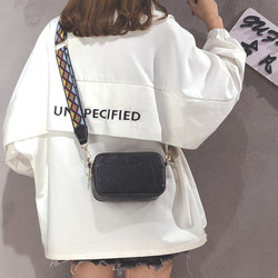 Insts super hot bag female 2021 new fashion personality broadband one-shoulder small square bag Korean version versatile cross-body bag
