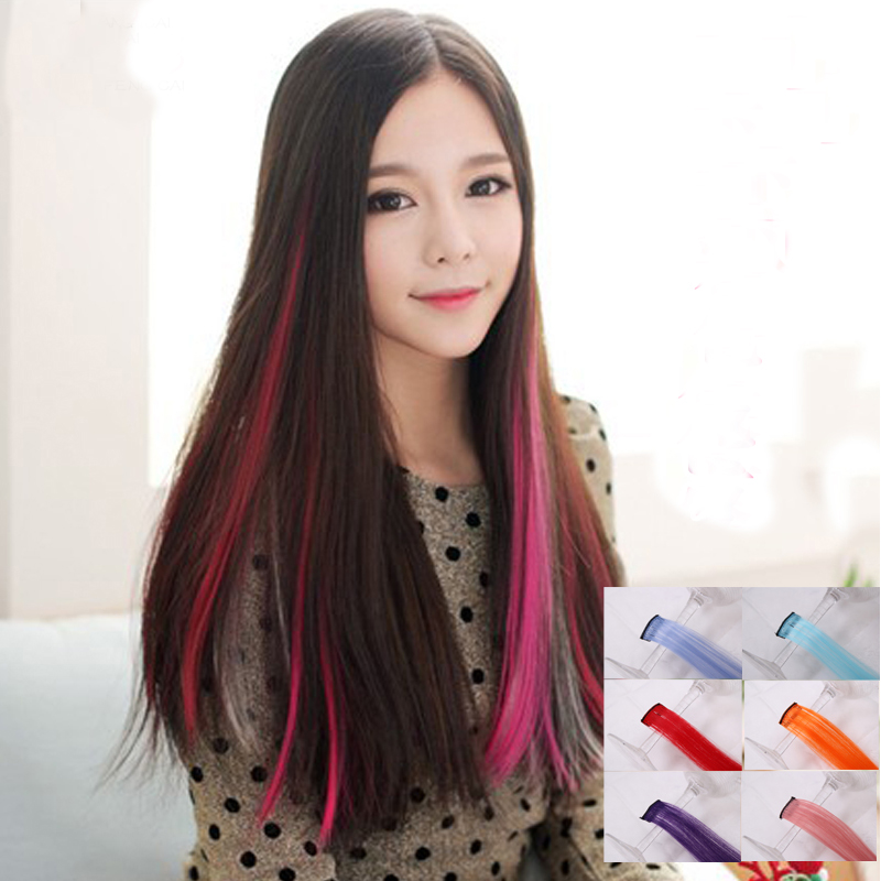 450864d526 Wig female color wig piece highlighting a piece of hair extension piece  gradient color invisible seamless color hair piece straight hair extension
