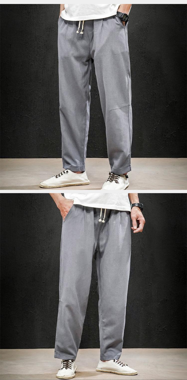 2020新款春夏季中国风男装大码休闲裤直筒裤男QT6008-1-K65-P65