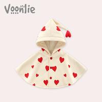 Где охота демисезонный Женщина установлена детские капюшон Плащ милый на младенца удерживающий тепло Выездной плащ детские накидка 0-3 лет