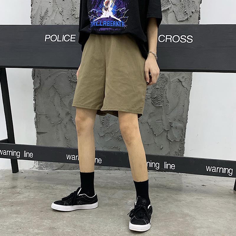 实价实拍 三标齐4个颜色 韩版水洗简约纯色工装服短裤潮裤男女款
