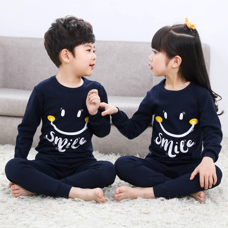 The child underwear coverall purified cotton female children's clothing boy fall clothing fall pants entire cotton and kapok maintains warmth in the Spring and Fall Period baby the big virgin night clothes
