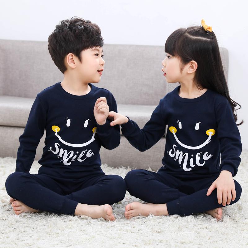 Children's Underwear Set Cotton Girls' Clothes Boys Qiuyi Qiuku Cotton Warm Spring Baby Big Kids Pajamas