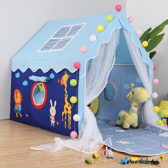 Children's tent indoor princess boy girl play house birthday gift household toy small house bed artifact