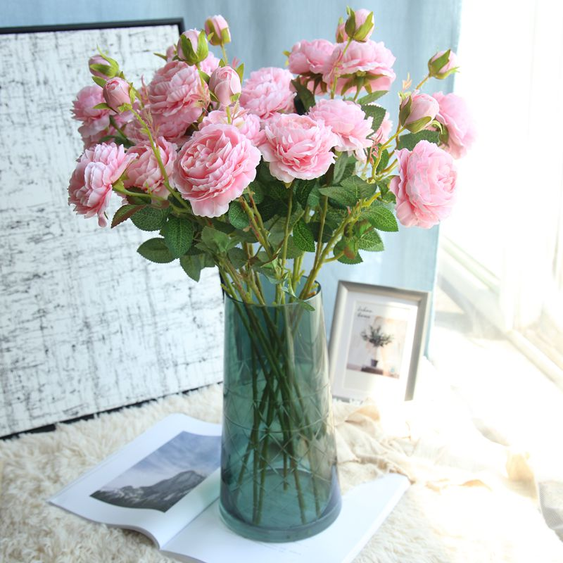 Simulation peony rose bouquet wedding home living room floor simulation peony rose bouquet wedding home living room floor decoration dried flowers artificial flowers silk flower arrangement mightylinksfo
