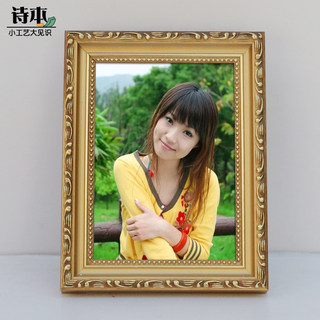 High quality pure solid wood photo frame 5 6 7 8 10 12 inch swing table 8K 4K wall-mounted picture frame support customization