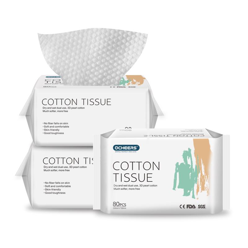 英国欧采皙棉柔巾婴儿干湿两用一次性洗脸巾宝宝抽取式专用厚3包