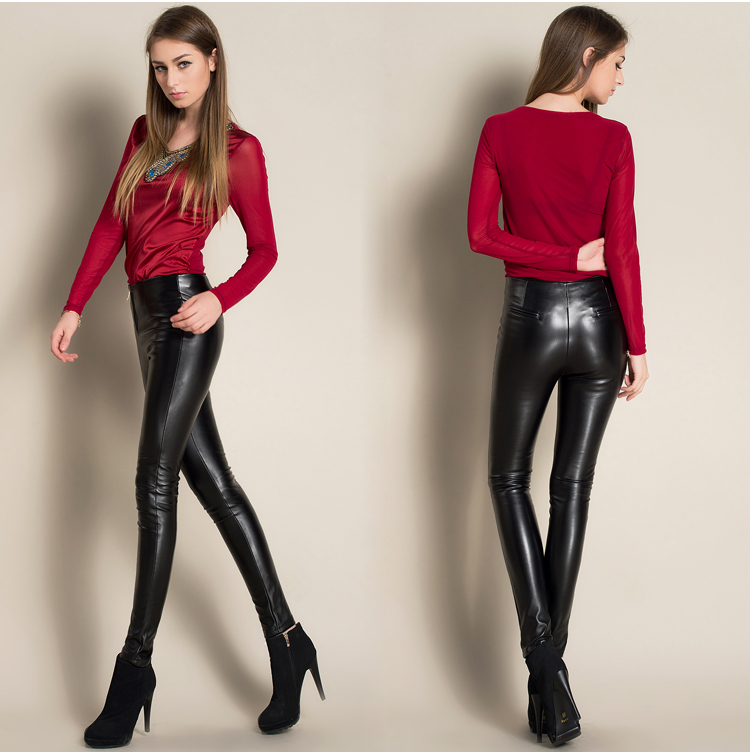 pants woman sexy leather Fashion
