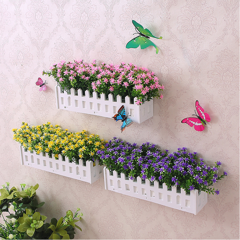 Silk flowers dried flowers plastic fake fence fence wall hanging silk flowers dried flowers plastic fake fence fence wall hanging artificial flower ornaments ornaments living room home flower arrangement flowers mightylinksfo