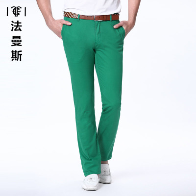[29 yuan] Farmans Men's straight casual pants men's comfortable business casual wild solid color trousers