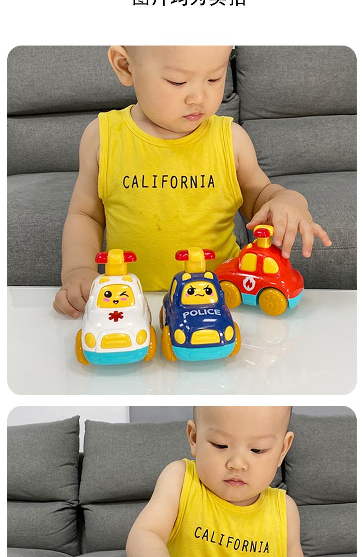 儿童惯性回力车男孩按压小汽车益智一周岁半玩具宝宝至耐摔详细照片