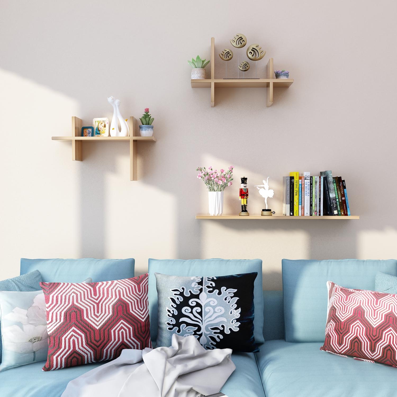 新款包邮墙上置物架书架创意字型壁挂客厅卧室墙面一隔板装饰架子