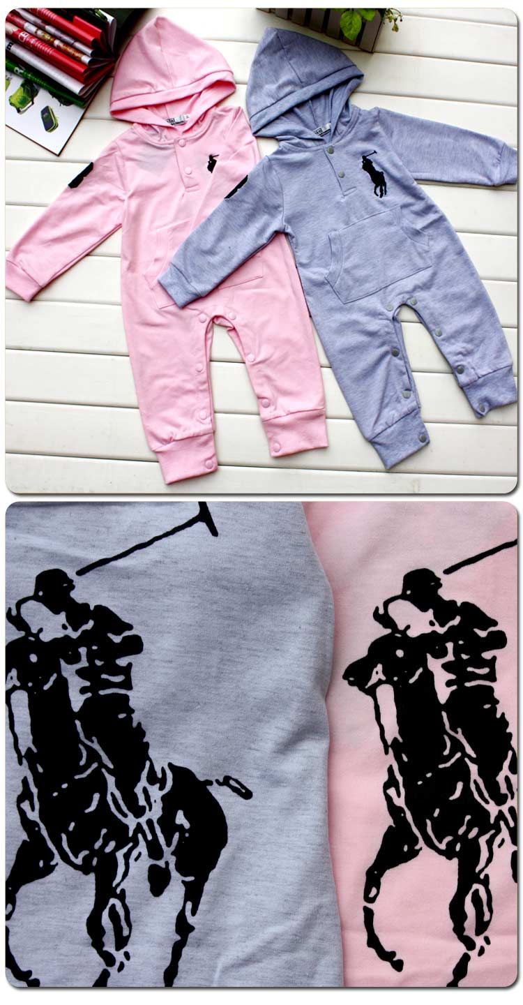 Nwt Boy Girl Baby Polo Ralph Lauren Hooded Romper Coverall