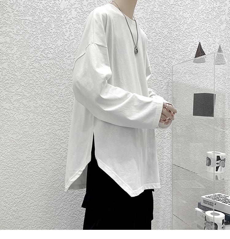 2020秋季潮流开衩长袖体恤衫T恤 A069-CT307-P35