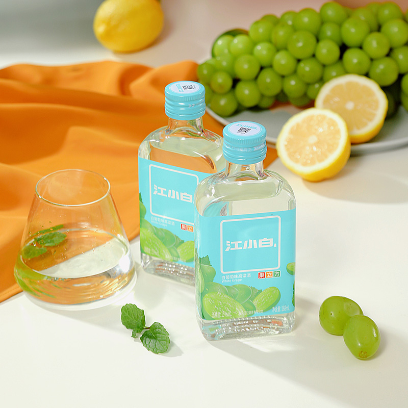 【江小白】果立方15度白葡萄味高粱酒6瓶