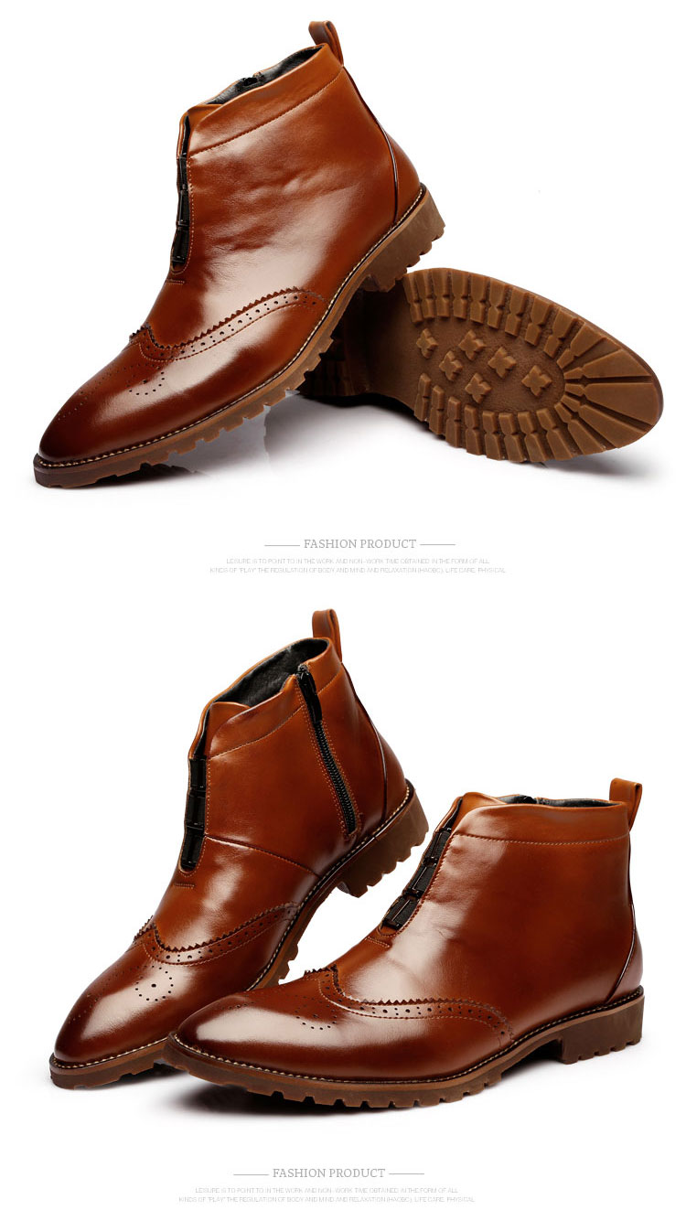 pinsv genuine leather casual boots classic boots