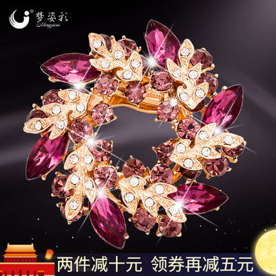 Brooch female bauhinia fashion temperament brooch Korea brooch silk scarf buckle dual-use high-end badge with accessories