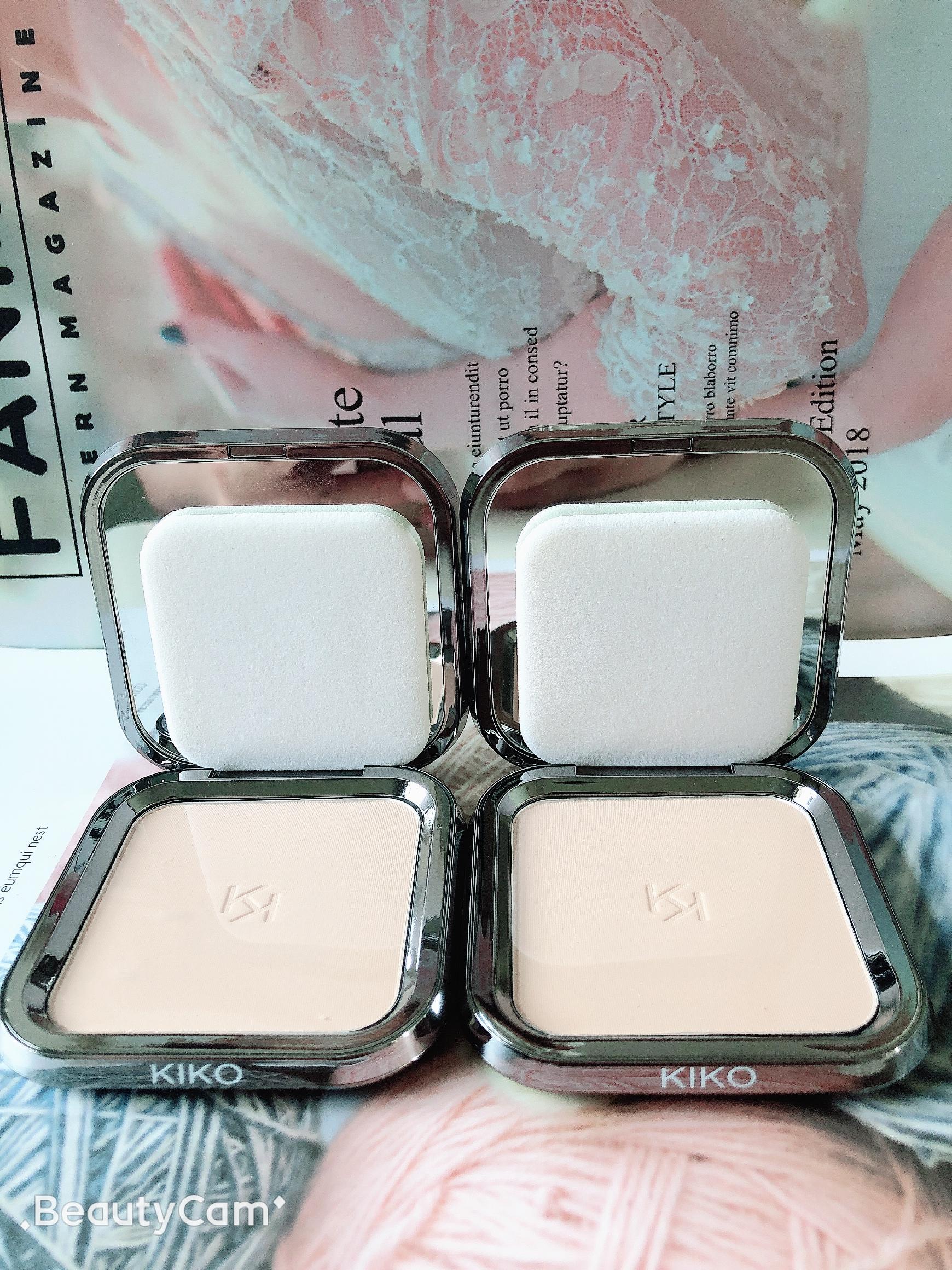 KIKO Light Matte Compact Powder 04 Bột ướt và khô nhỏ gọn Không sợ Sun CR15 spf30 - Bột nén