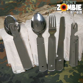 German German public military version of the original stainless steel portable outdoor camma multi-function combination tableware knife set