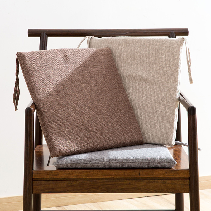 Japanese Style Linen Chair Cushions Office Bench Seat Cushions Student  Stool Buttock Cushions Thickened Chair